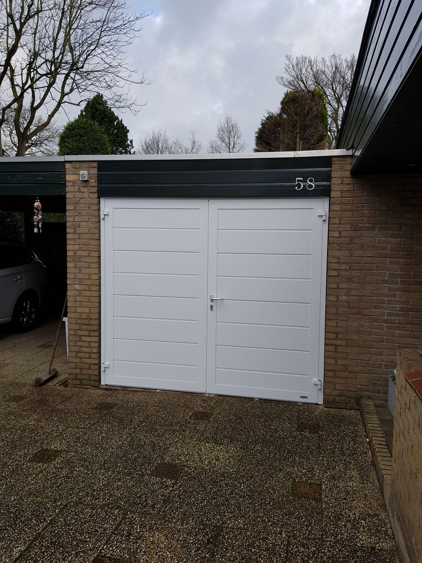 Duoport garagedeur satin white te Enschede