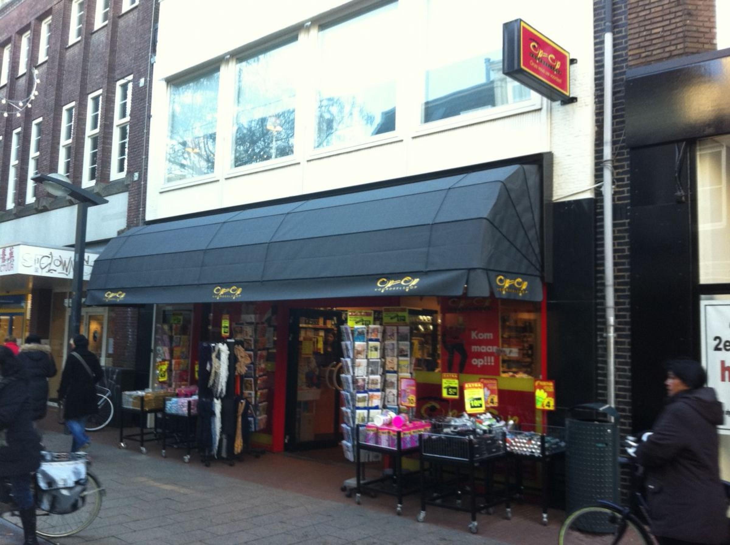 Gemotoriseerde winkel markies